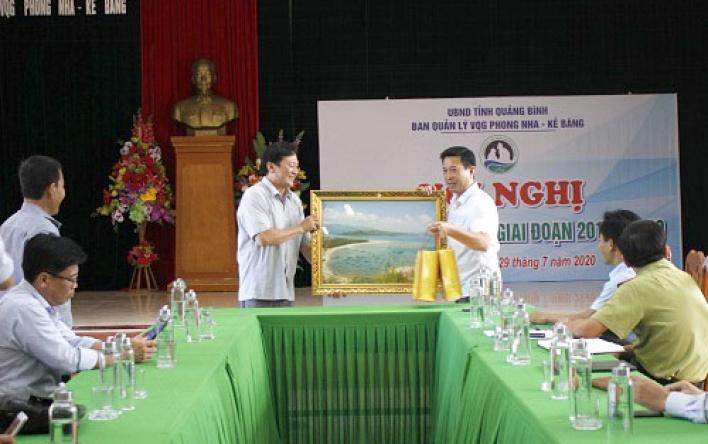 BQL VQG Phong Nha – Kẻ Bàng làm việc với đoàn công tác Sở Nông nghiệp và Phát triển Nông thôn Phú Yên